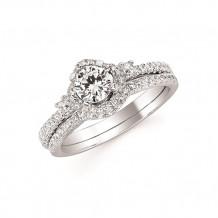 Ostbye 14k White Gold 3 Stone Straight Engagement Ring