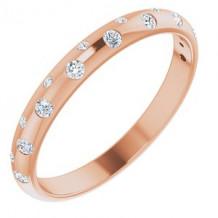 14K Rose 1/6 CTW Diamond Anniversary Band Size 7