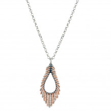 Sterling Silver Rose Gold Plated Regalia Necklace