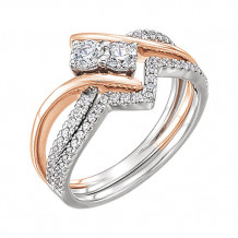 Stuller 14k Two-Tone Gold Diamond Semi-mounting Engagement Ring