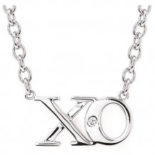 Ostbye Sterling Silver Diva Diamonds X & O Necklace