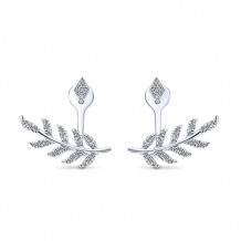 14k White Gold Gabriel & Co. Diamond Peek A Boo Earrings