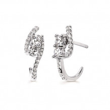 Ostbye 14k White Gold Two Stone Diamond Earrings