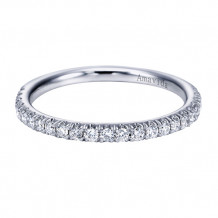 Gabriel & Co 18k White Gold Diamond Wedding Band