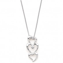 Ostbye Sterling Silver Diva Diamonds Heart Necklace