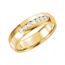 Stuller 14k Yellow Gold 1/4ct Diamond Wedding Band