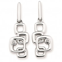 Ostbye Sterling Silver Diva Diamonds Square Drop Earrings