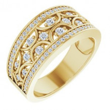14K Yellow 5/8 CTW Diamond Band Size 7
