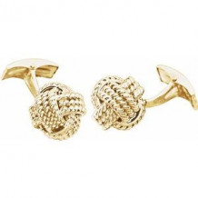 14K Yellow Knot Cuff Links