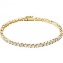 "14K Yellow 5 CTW Diamond Line 7"" Bracelet"
