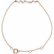 """14K Rose 1/3 CTW Diamond Bar 7"""" Bracelet"""