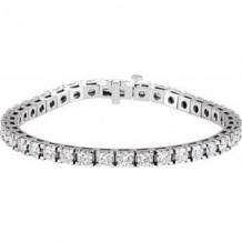 "14K White 9 1/6 CTW Diamond Line 7 1/4"" Bracelet"