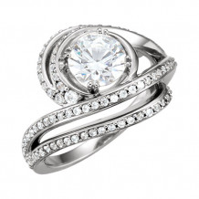 Stuller 14k White Gold Accented Engagement Ring