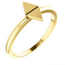Stuller 14k Yellow Gold Geometric Stackable Ring