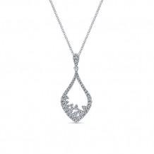 14k White Gold Gabriel & Co. Diamond Fashion Necklace