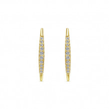 14k Yellow Gold Gabriel & Co. Diamond Earcuffs Earrings