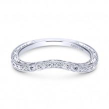 Gabriel & Co Platinum Diamond Wedding Band