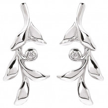 Ostbye Sterling Silver Diva Diamonds Vine Earrings