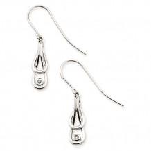 Ostbye Sterling Silver Diva Diamonds Thoroughbred Earrings