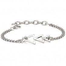 Ostbye Sterling Silver Diva Diamonds Trident Bracelet