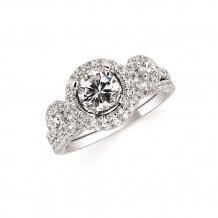 Ostbye 14k Two Tone Gold Oval 3 Stone Diamond Engagement Ring