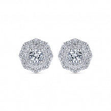 14k White Gold Gabriel & Co. Diamond Stud Earrings
