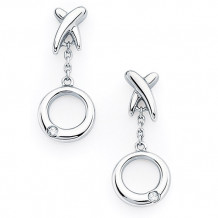 Ostbye Sterling Silver Diva Diamonds X & O Earrings