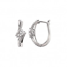 Ostbye 14k White Gold Bypass Diamond Earrings