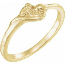 14K Yellow The Unblossomed Rose Ring Size 7