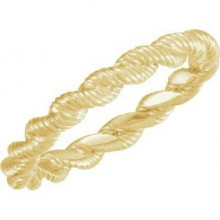 14K Yellow Twisted Rope Band Size 7
